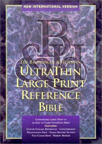 Ultrathin Large Print Reference Bible, New International Version: Bible