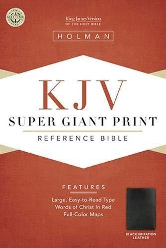 9781558196346: KJV Super Giant Print Reference Bible, Black Simulated Leather (King James Version)