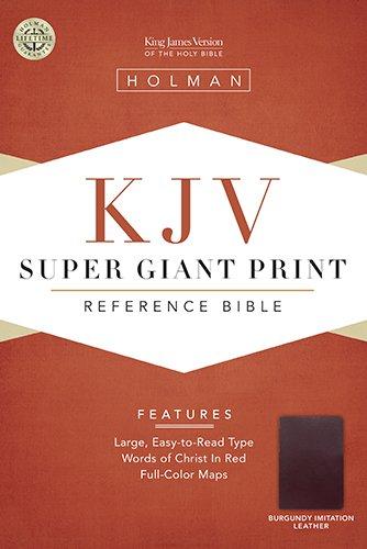 9781558196384: Holy Bible: King James Version, Reference Bible, Burgundy Imitation super giant print (King James Version)