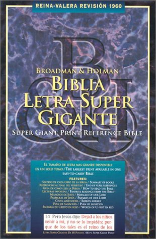 9781558196797: Super Giant Print Reference Bible-RV 1960 (Spanish Edition)