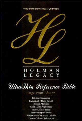 9781558197404: Bible Niv Holman Legacy U/Thin L/P Blk