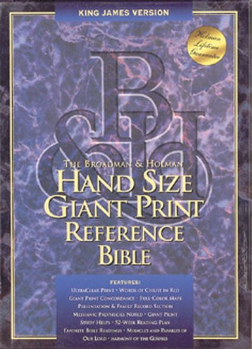 9781558197855: KJV Hand Size Giant Print Reference Bible (Burgundy Bonded Leather) (King James Version)