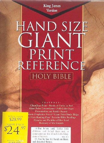 9781558198142: KJV Giant Print Reference Bible, Burgundy Genuine Leather (King James Version)