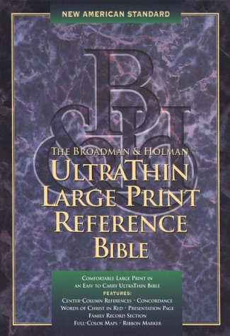 9781558198173: Holy Bible: Ultrathin Large Print Reference : New American Standard : Black Bonded Leather