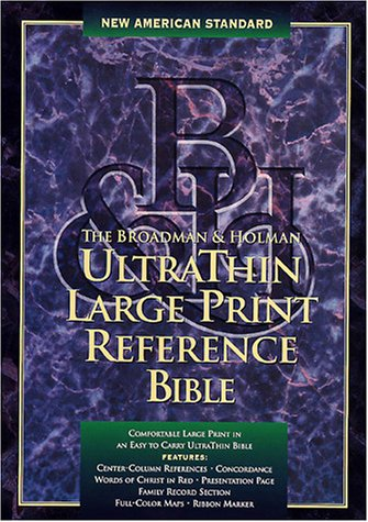 9781558198180: New American Standard Bible Ultrathin Large Print Reference: Burgundy Bonded Leather