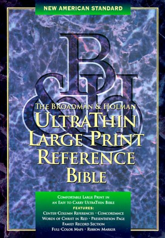 9781558198210: Holy Bible: Ultrathin Large Print Reference : New American Standard : Black Genuine Leather