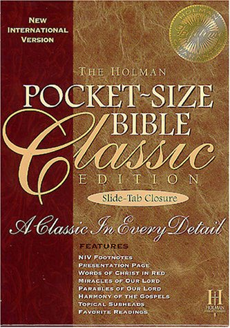 9781558198395: Niv Pocket-Size Classic Bible With Slide-Tab Closure, Burgundy