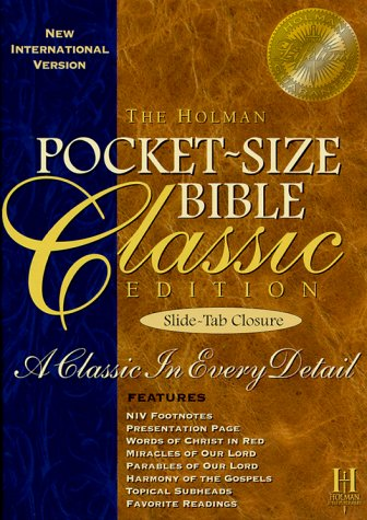 9781558198401: New International Version Pocket-Size Classic Bible: With Slide-Tab Closure, Blue