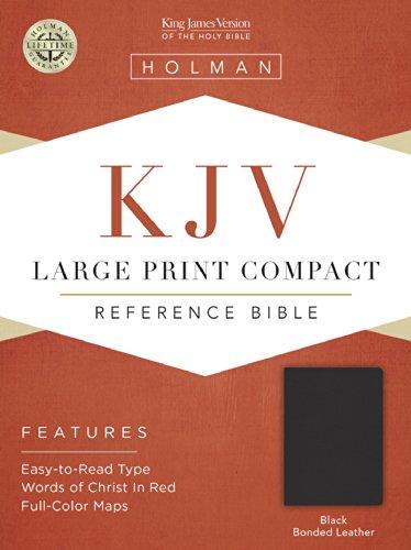 9781558198760: KJV Large Print Compact Bible, Black Bonded Leather