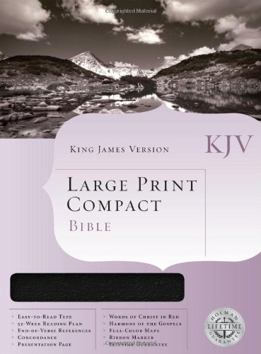 9781558198777: Large Print Compact Bible: King James Version, Blue Bonded Leather