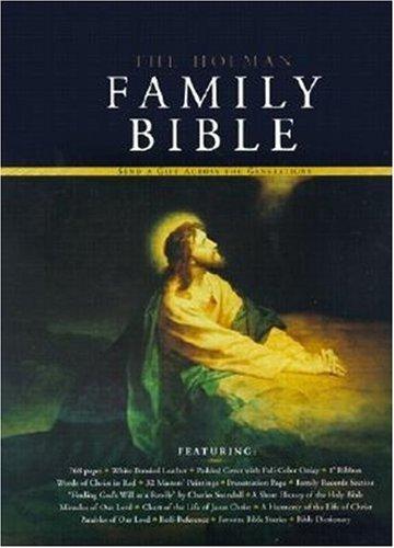 9781558198869: Holman KJV Family Bible, Deluxe Edition, White Bonded Leather
