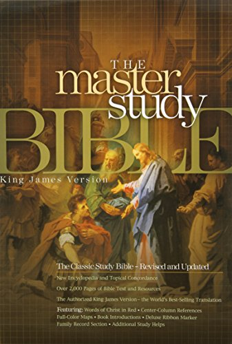 9781558198913: KJV Master Study Bible, Burgundy Paper Over Board Indexed