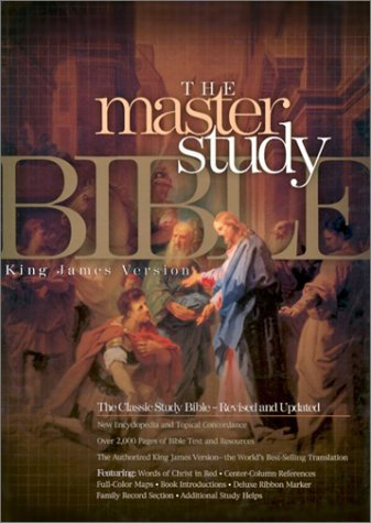 9781558198937: The Holy Bible: Cornerstone King James Version Master Study Bible, Black Bonded Leather (Indexed)