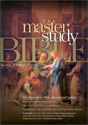 9781558198999: KJV Master Study Bible, Burgundy Genuine Leather Indexed