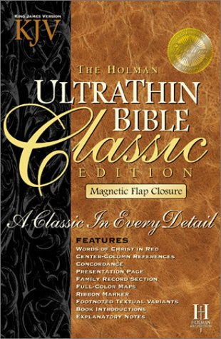 9781558199033: King James Version Ultrathin Classic: Burgundy Bonded Leather Magnetic Flap (Holman Classics)
