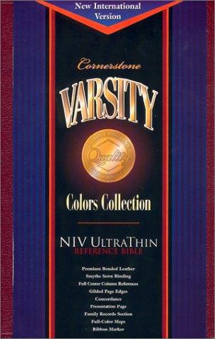 9781558199378: Cornerstone Varsity Niv Ultrathin Reference Bible: Varsity Crimson Bonded Leather (Cornerstone varsity colors collection)