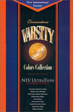 9781558199385: Cornerstone Varsity Holy Bible: Niv Ultrathin Reference, Orange Bonded Leather (Cornerstone varsity colors collection)
