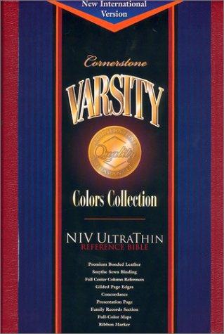 9781558199408: Cornerstone Varsity Niv Ultrathin Reference Bible: Varsity Red Bonded Leather (Cornerstone varsity colors collection)