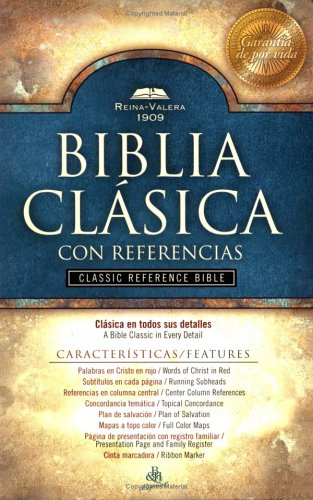 9781558199569: Holy Bible: The Reina-valera 1909 Classic Reference Bible, Burgundy, Bonded Leather