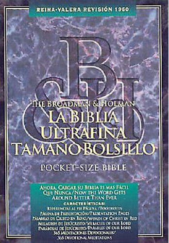 Pocket-Size Bible-RV 1960 (Leather / Fine Binding): B&h Espanol Editorial