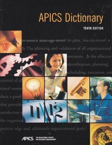 9781558221918: Apics Dictionary
