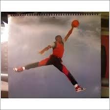 Nike Michael Jordan 1984 1994 Ten Year Anniversary Calendar By