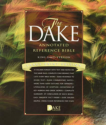 9781558291188: Dake Annotated Reference Bible-KJV-Large Print
