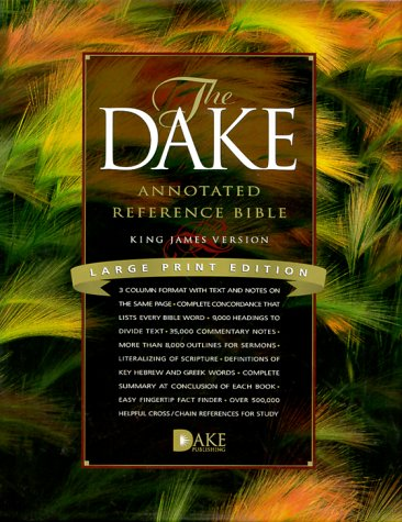 9781558291218: Dake Annotated Reference Bible-KJV-Large Print - Burgundy Genuine Leather