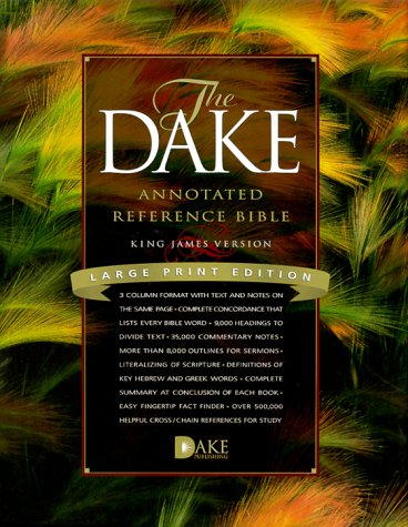 9781558291225: Dake Annotated Reference Bible: Black Genuine Leather
