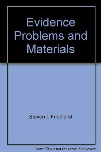 9781558341302: Evidence problems and materials (Contemporary legal education series)
