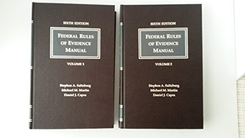9781558341937: Federal Rules of Evidence Manual/With Supplement: A Complete Guide to the Federal Rules of Evidence
