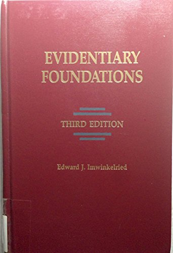 9781558342149: Evidentiary Foundations