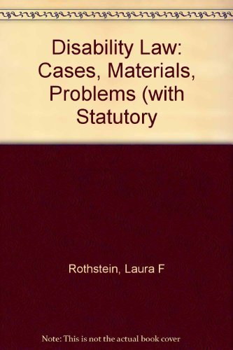 9781558342309: Disability law: Cases, materials, problems (Contemporary legal education series)