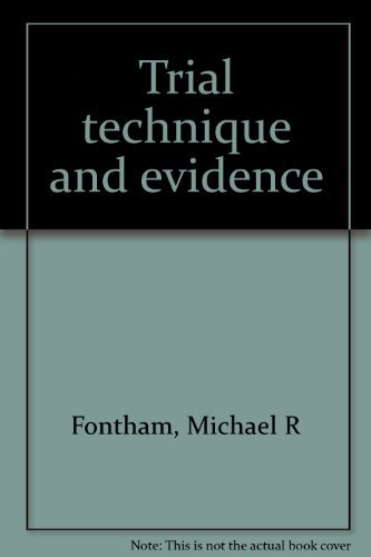 9781558342583: Trial technique and evidence