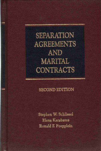 9781558345089: Separation agreements and marital contracts in two volumes