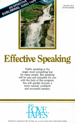 9781558480124: Effective Speaking (Love Tapes)