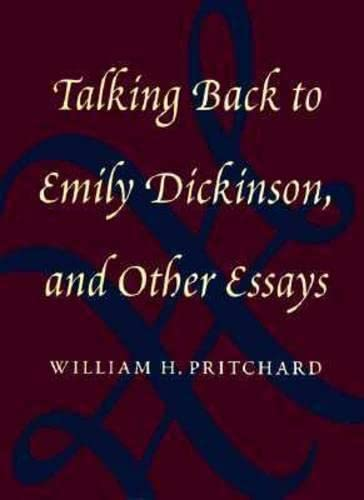 9781558491380: Talking Back to Emily Dickinson, and Other Essays