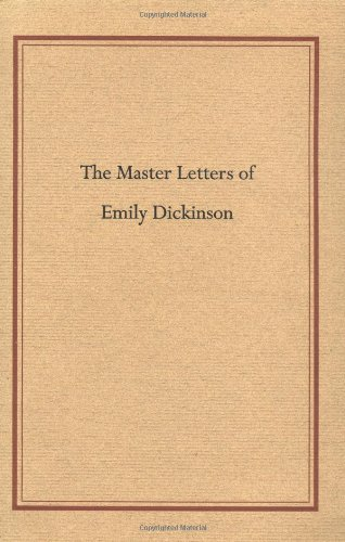 9781558491557: Master Letters of Emily Dickinson