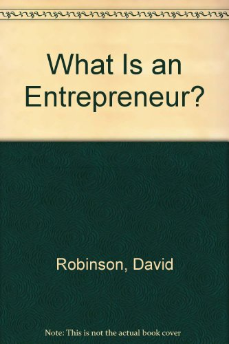 9781558500556: What Is an Entrepreneur?