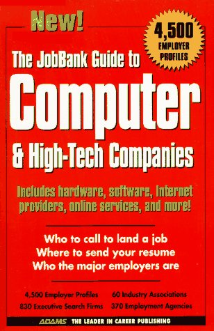 9781558507401: The Jobbank Guide to Computer & High-Tech Companies (1st ed)