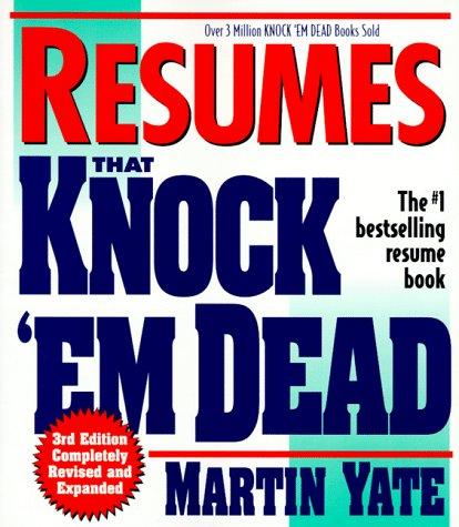 Resumes That Knock Em' Dead (3rd Ed) (1558508171) by Adams Media TBD