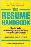 9781558509337: Resume Handbook How to Write Outstanding