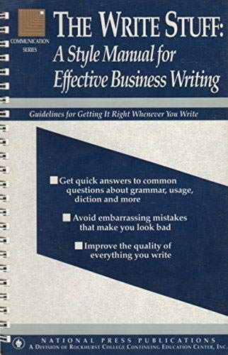 the write stuff book pdf