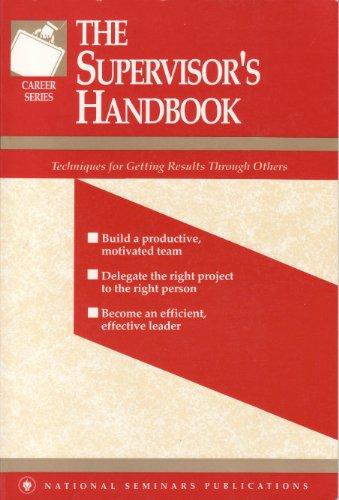 9781558520561: The supervisor's handbook (A National Seminars Publications desktop handbook)