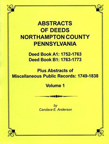 9781558563315: Abstracts of deeds, Northampton Co., Pennsylvania