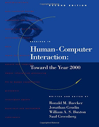9781558602465: Readings in Human-Computer Interaction: Toward the Year 2000 (Interactive Technologies)