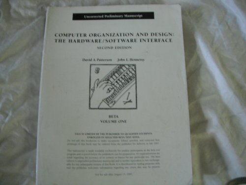 9781558604407: Computer Organisation and Design: Vol 1: The Hardware/Software Interface, Beta