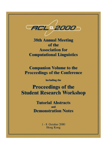 ACL Proceedings 2000 Conf: ACL