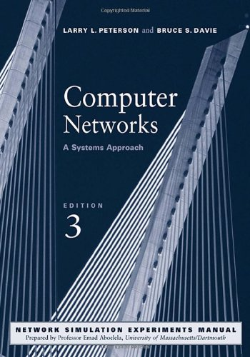 Computer Networks 9781558608320 In this new edition of their classic and bestselling textbook, authors Larry Peterson and Bruce Davie continue to emphasize why networks work the way they do. Their  system approach  treats the network as a system composed of interrelated building blocks (as opposed to strict layers), giving students and professionals the best possible conceptual foundation on which to understand current networking technologies, as well as the new ones that will quickly take their place. Incorporating instructor and user feedback, this edition has also been fully updated and includes all-new material on MPLS and switching, wireless and mobile technology, peer-to-peer networks, Ipv6, overlay and content distribution networks, and more. As in the past, all instruction is rigorously framed by problem statements and supported by specific protocol references, C-code examples, and thought-provoking end-of-chapter exercises. New to the edition is a downloadable network stimulation lab manual that allows students to visualize and experiment with core networking technologies in direct coordination with the book's discussion. Thanks to this and many other enhancements, Computer Networks: A Systems Approach remains an essential resource for a successful classroom experience and a rewarding career in networking. * Written by an author team with over thirty years of first-hand experience in networking research, development, and teaching--two leaders in the work of defining and implementing many of the protocols discussed in the book. * Includes all-new coverage and updated material on MPLS and switching, wireless and mobile technology, peer-to-peer networks, Ipv6, overlay and content distribution networks, VPNs, IP-Telephony, network security, and multimedia communications (SIP, SDP). * Additional and earlier focus on applications in this edition makes core protocols more accessible and more meaningful to readers already familiar with networked applications. * Features chapter-f...
