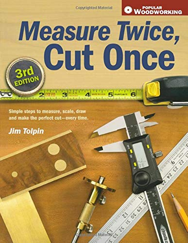 Measure Twice, Cut Once: Simple Steps to Measure, Scale, Draw and Make the Perfect Cut-Every Time. (Popular Woodworking) (155870809X) by Jim Tolpin